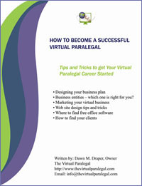 Virtual Legal Assitant Paralegal How to Ebook